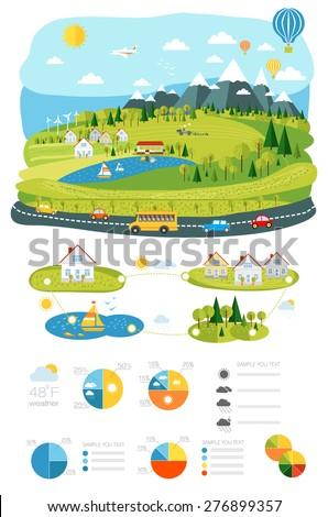 infrastructure flat  landscape