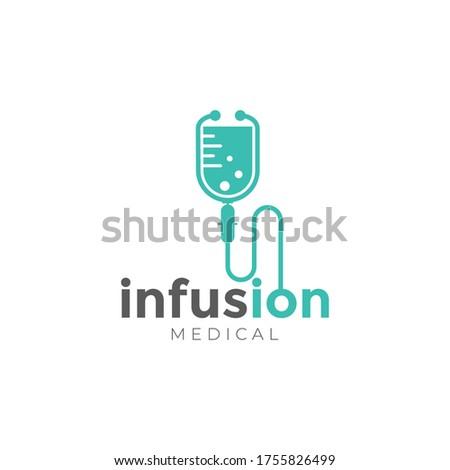infusion logo, creative stethoscope , infusion vector ストックフォト ©