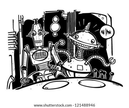 Ingman And Riley - Retro Clipart Illustration