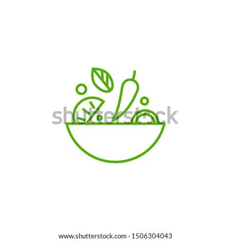 Ingredients mix line icon concept. Ingredients mix flat vector symbol, sign, outline illustration.