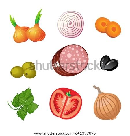 ingredients set