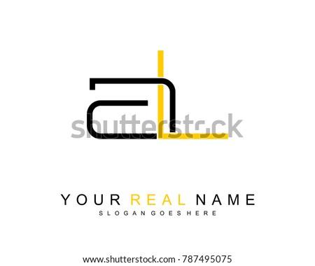 initial a   l minimalist logo