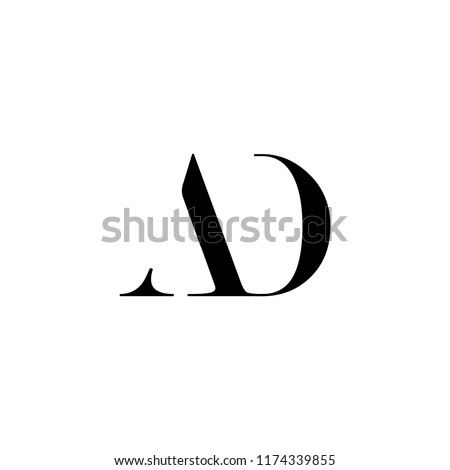 initial AD logo template, vector illustration for company file download in eps10