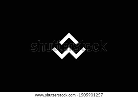 Initial AW WA Letter Logo Design Vector Template. Monogram and Creative Alphabet W A Letters icon Illustration.