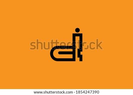 Initial based clean and minimal letter. DI ID logo creative and monogram icon symbol. Universal elegant luxury alphabet vector design Foto d'archivio ©