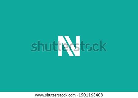 Initial based clean and minimal Logo. NV VN N V letter creative fonts monogram icon symbol. Universal elegant luxury alphabet vector design Imagine de stoc ©