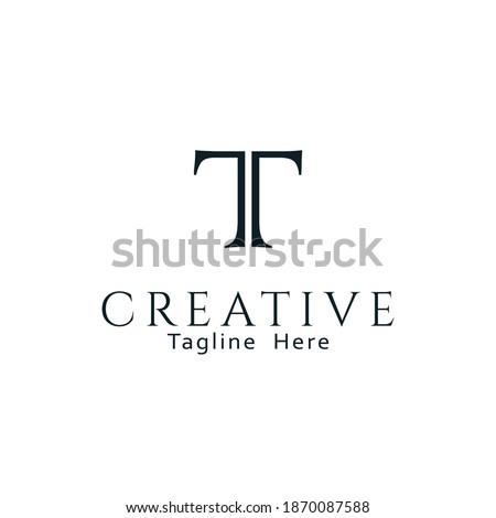 Initial based clean and minimal T Logo. TT letters creative fonts monogram icon symbol. Universal elegant luxury alphabet vector design Stock fotó ©