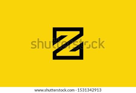 Initial based clean and minimal Z Logo. Z letter creative fonts monogram icon symbol. Universal elegant luxury alphabet vector design Stok fotoğraf ©