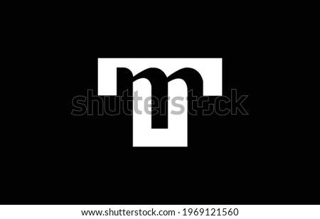 Initial based T, TT, MU, UM,  logo template. Unique monogram alphabet letters design and vector. Zdjęcia stock ©