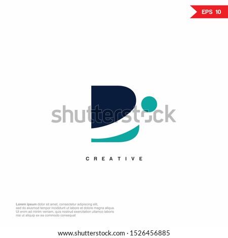 Initial BI, IB Logo icon monogram design. Vector graphic design template element. Foto stock ©