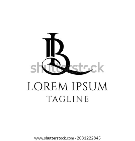 initial BL Logo Design vector Stock fotó ©