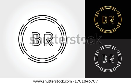 initial br letter logo with