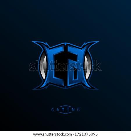 initial cg logo design  initial