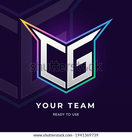 initial cg logo design with