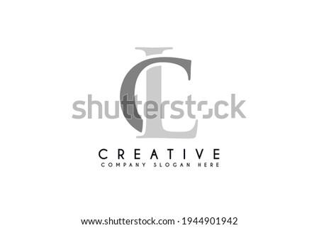Initial CL letter logo. Vector business branding flat logo design illustration Photo stock ©