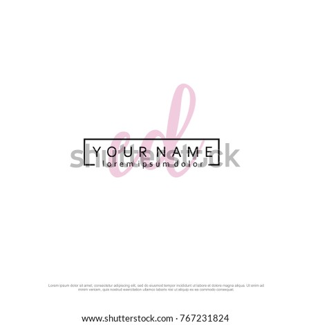 Initial E & D elegant logo template vector