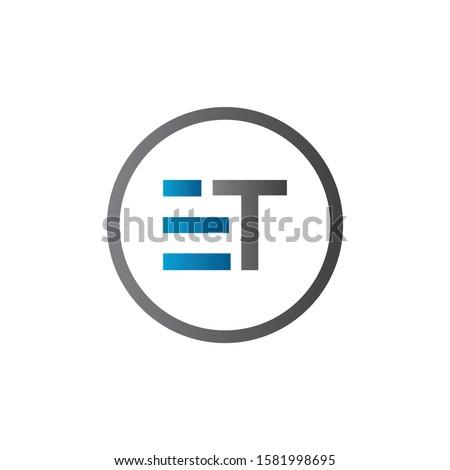 Initial ET Letter Linked Logo. Creative Letter ET Modern Business Logo Vector Template. Initial ET Logo Template Design Stok fotoğraf ©