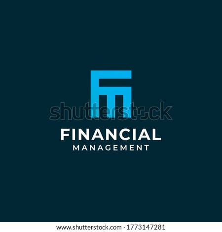 Initial  F  M marketing financial logo Vector Stock fotó ©
