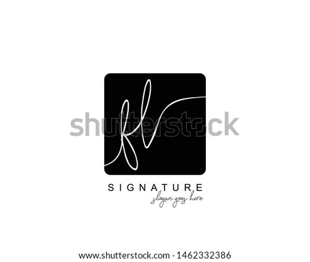 Initial FL beauty monogram and elegant logo design, handwriting logo of initial signature, wedding, fashion, floral and botanical with creative template. Stock fotó ©
