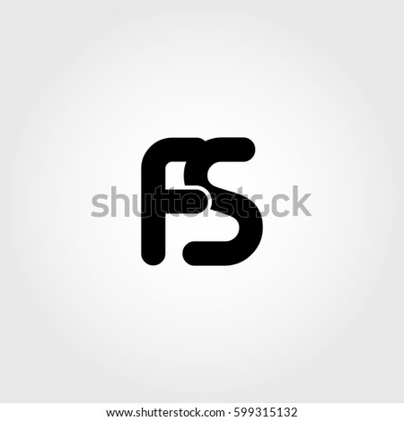 initial fs black business logo