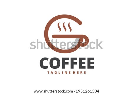initial G coffee cup logo Photo stock ©