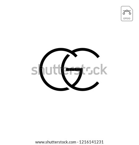initial GC, CG, G, C Logo template vector illustration