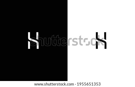 Initial H Letter Logo Design Vector Template. Abstract and Creative Alphabet Letters icon Illustration. Stock fotó ©