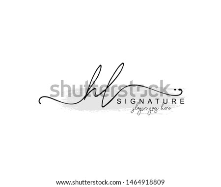Initial HL beauty monogram and elegant logo design, handwriting logo of initial signature, wedding, fashion, floral and botanical with creative template. Stock fotó ©