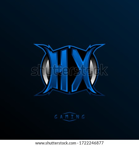 Initial HX logo design, Initial HX logo design with Cool style, Logo for game, esport, initial gaming, community or business. Stock photo ©