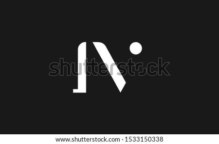 initial iv letter logo design