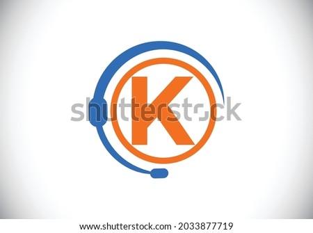 initial k monogram letter