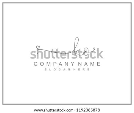 Initial K O handwriting logo template vector
