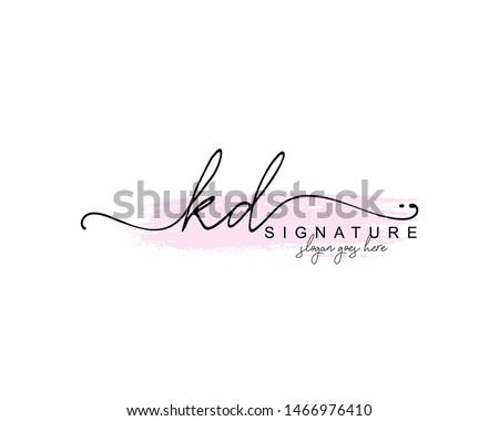 Initial KD beauty monogram and elegant logo design, handwriting logo of initial signature, wedding, fashion, floral and botanical with creative template. Stock fotó ©