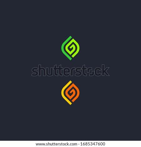initial L G letter logo design Stok fotoğraf ©