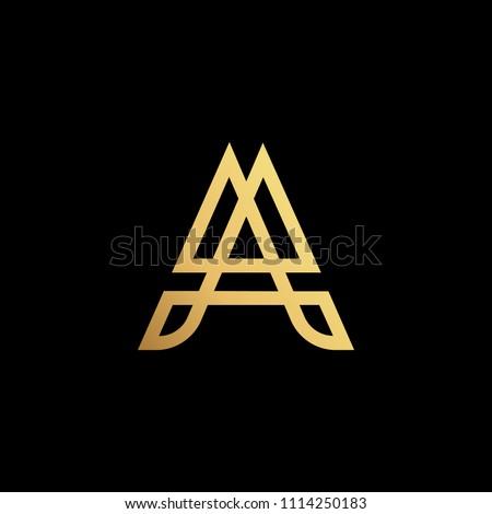 initial letter a aa minimalist