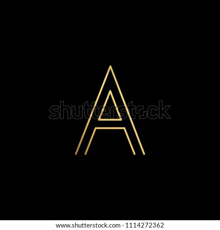 initial letter a aa minimalist