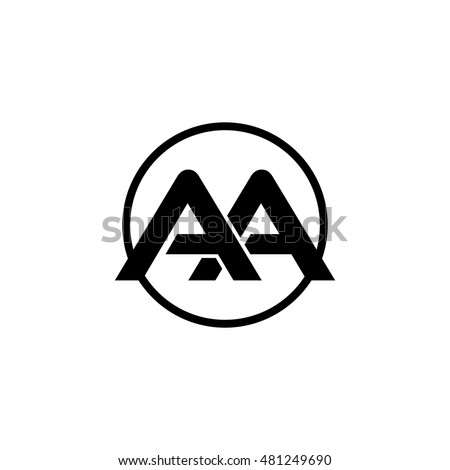Vector Images Illustrations And Cliparts Initial Letter Aa Linked