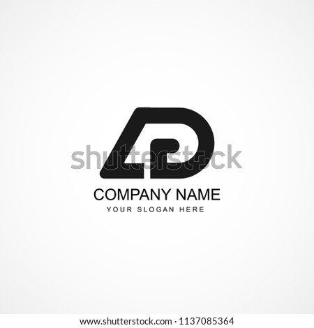 Initial Letter AG AD Logo Template Design Stok fotoğraf ©