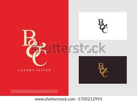Initial letter B & C BC luxury art vector mark logo template. Foto stock ©