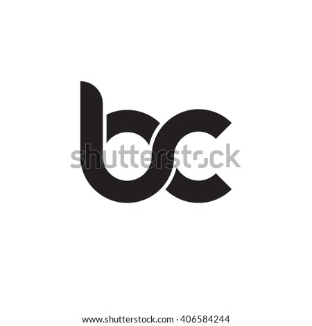 initial letter bc linked circle lowercase monogram logo black Foto stock ©