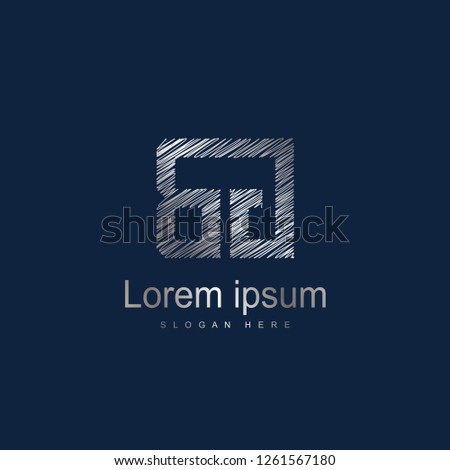 Initial Letter BG Logo Template Vector Design Photo stock ©