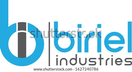 initial letter bi linked circle lowercase monogram logo Foto stock ©