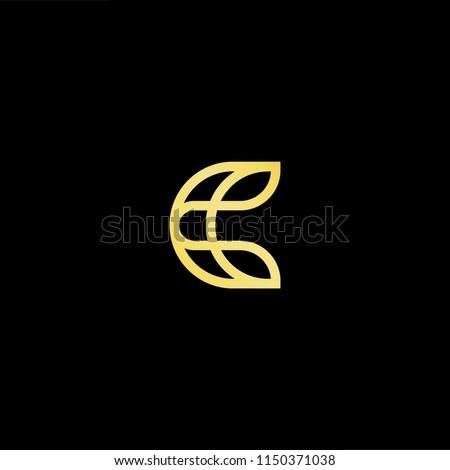 initial letter c cc minimalist