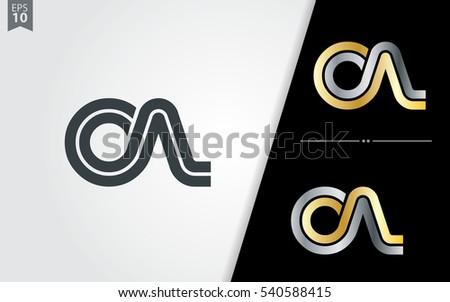 Initial Letter CA OA CN Linked Design Logo  Zdjęcia stock ©