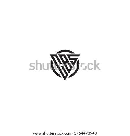 Initial Letter CBS triangle monogram cool modern logo