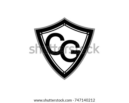 initial letter cg shield logo