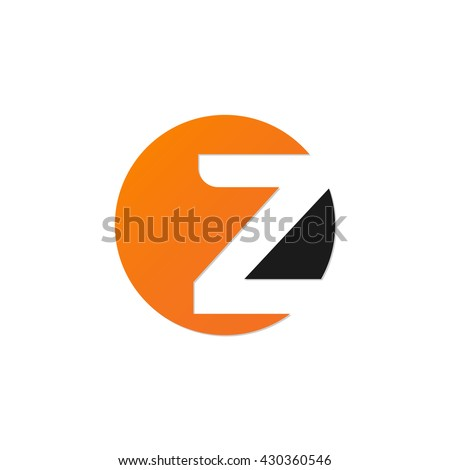 initial letter circle logo z