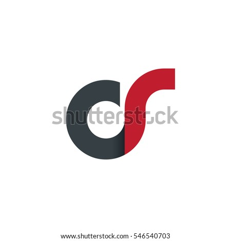 Initial Letter CS CR OR OS Rounded Lowercase Logo Stock fotó ©
