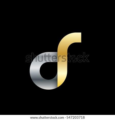 Initial Letter DR CR DS CS Rounded Lowercase Logo Stock fotó ©