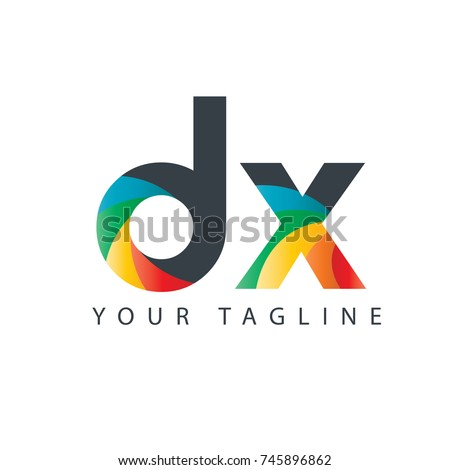 initial letter dx rounded